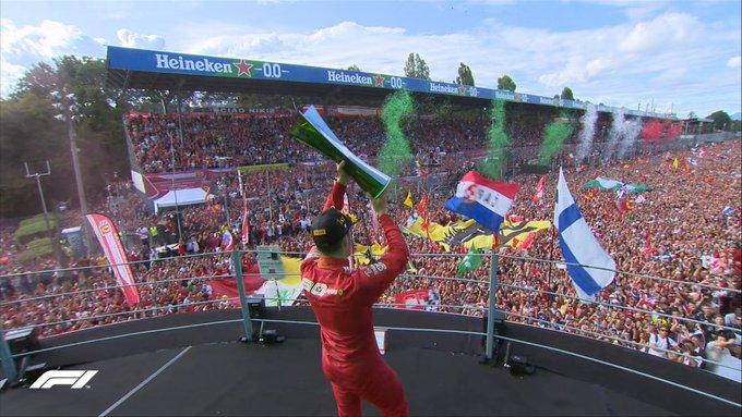 Leclerc dá a vitória para a Ferrari em Monza após 9 anos